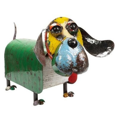 Hound Dog Recycled Sculpture