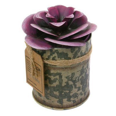 Fair Trade Recycled Shabby Chic Candle - White Sage