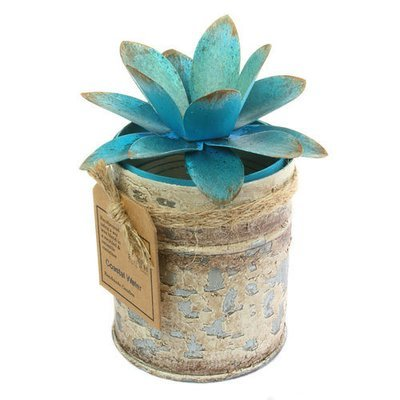 Fair Trade Recycled Shabby Chic Candle - Coastal Waters