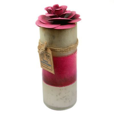 Fair Trade Recycled Shabby Chic Candle - Japanese Cherry Blossom