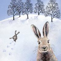 The Happy Hare Greeting Card