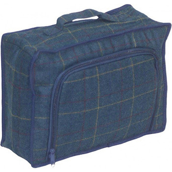 Blue Tweed Cooler Bag