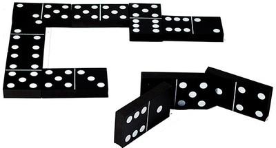 Jumbo Black and White Dominoes