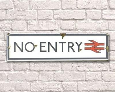 No Entry Metal Sign