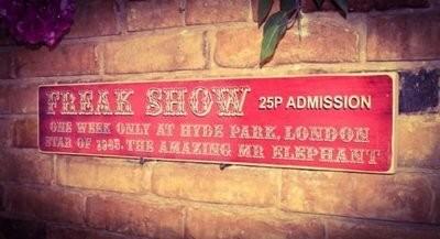 Freak Show Wooden Sign