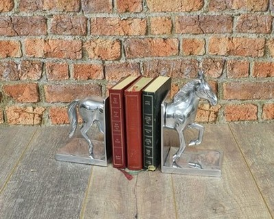 Aluminium Horse Book-Ends