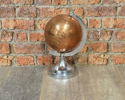 Copper Globe set on Aluminium Stand