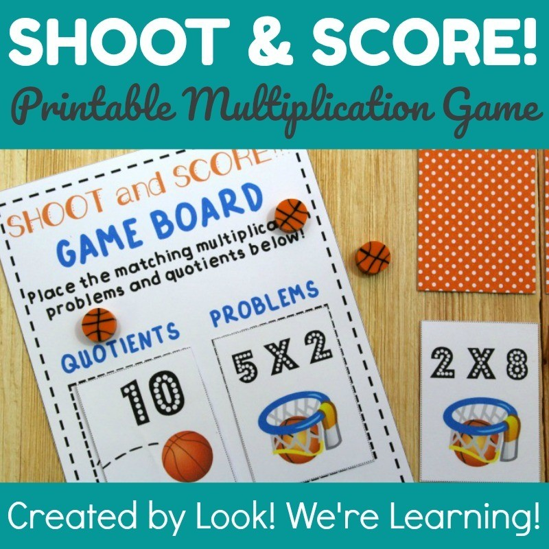 Shoot and Score! Printable Multiplication Game