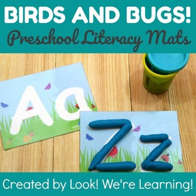 Birds and Bugs Spring Playdough Mats