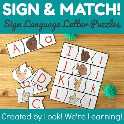 ASL Alphabet Matching Puzzles