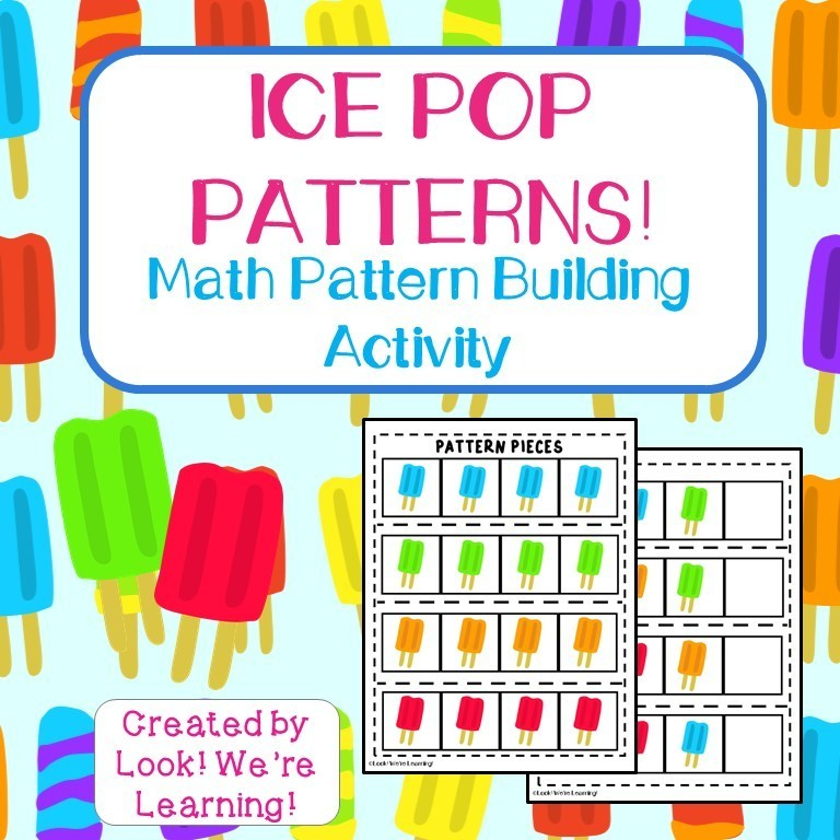 Ice Pop Math Patterns Activity