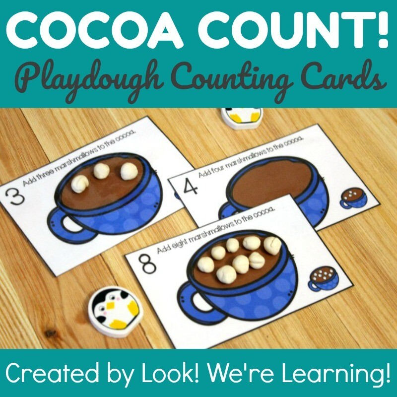 Hot Cocoa 1-10 Counting Cards for Kids