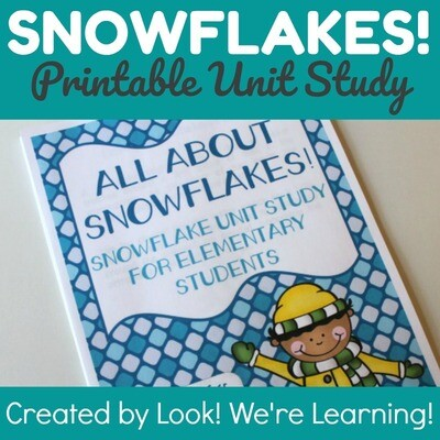 All About Snowflakes Unit Study