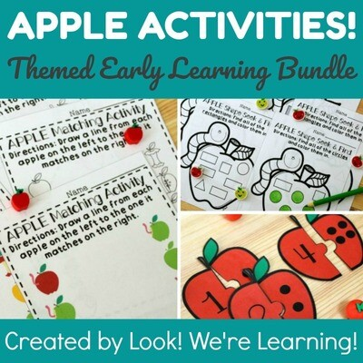 Apple Activities - Preschool Apple Learning Bundle