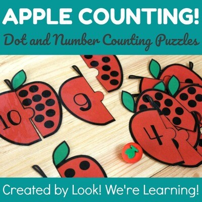 Apple Preschool Counting Puzzles