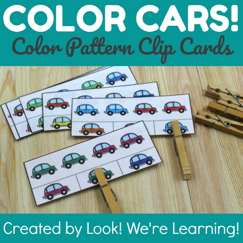 Colorful Cars Simple Pattern Clip Cards
