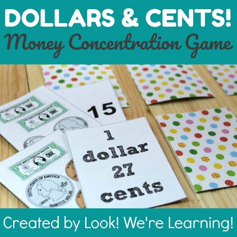 Dollars and Cents Concentration Game