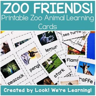 Printable Zoo Animal Flashcards