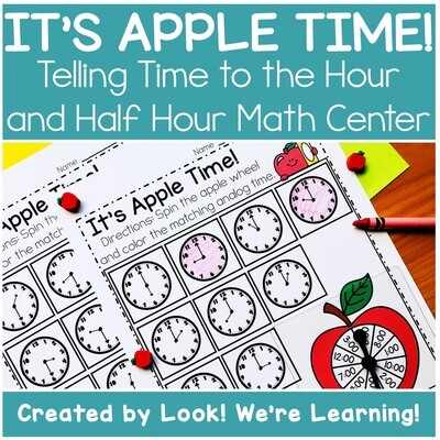 Apple Time! Telling Time Math Center