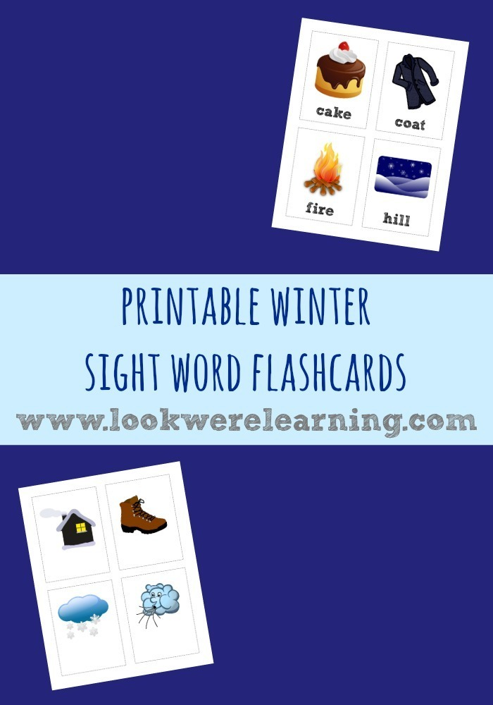 Winter Sight Words Flashcards