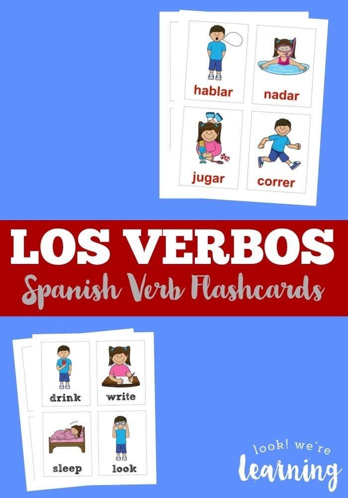 Los Verbos Spanish Verb Flashcards
