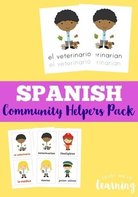 Spanish Community Helpers Printables Pack