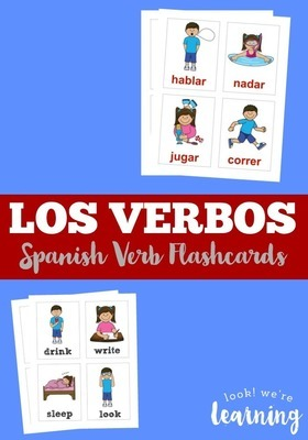 Los Verbos Spanish Verb Flashcards