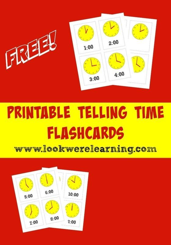 Printable Telling Time Flashcards