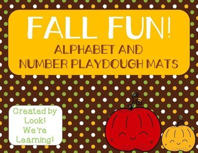 Fall Alphabet and Number Playdough Mats