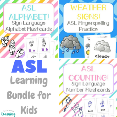 ASL for Kids Learning Bundle