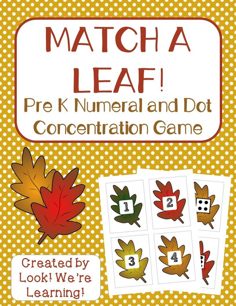 Fall Leaf Number and Dot Concentration Game