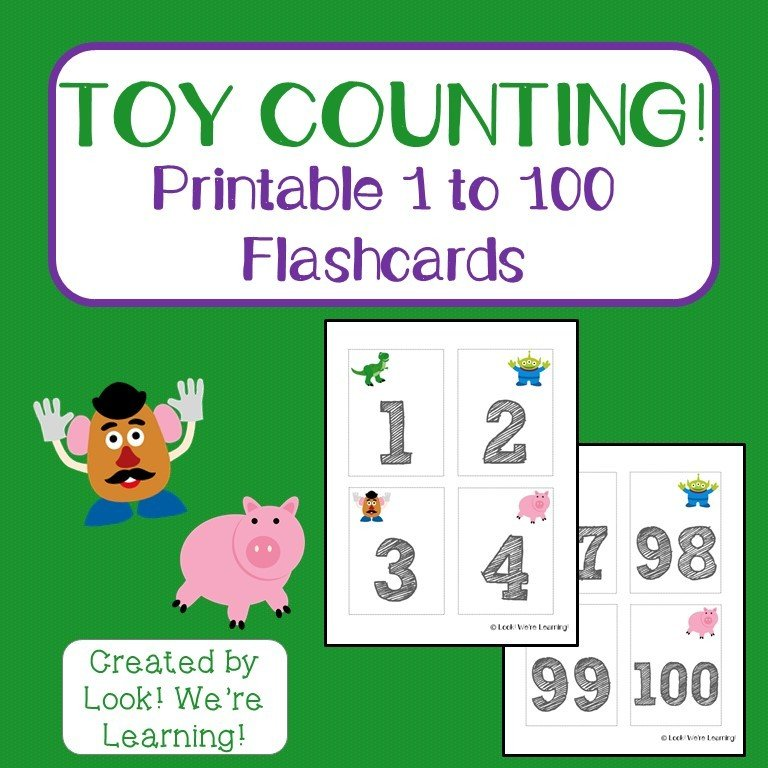 Toy Friends Counting to 100 Flashcards