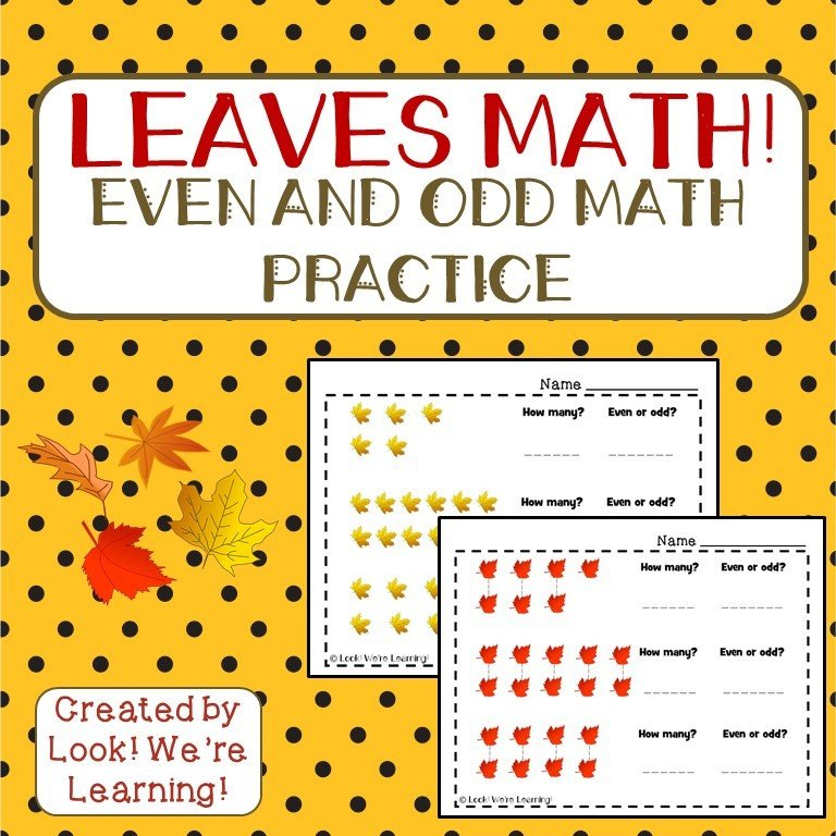 Leaves Even and Odd Math Practice