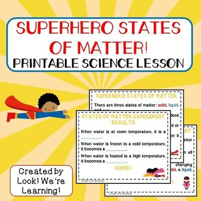 Superhero States of Matter Printable Science Lesson