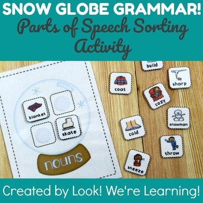 Snow Globe Grammar: Parts of Speech Sorting