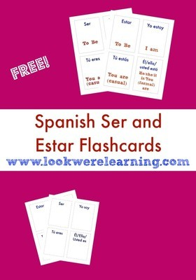 Spanish Ser and Estar Flashcards
