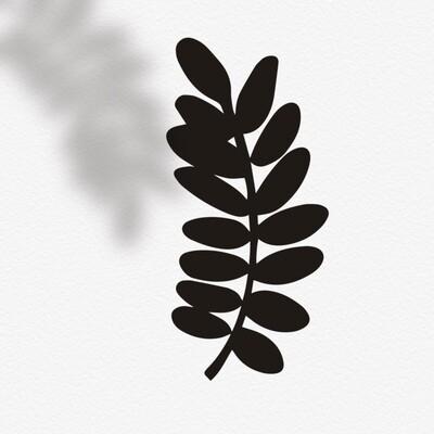 Кисть-штамп Лист рябины