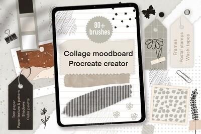 Mood board и коллаж кисти для Procreate