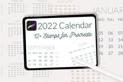 Календарь 2022. Сетка календаря с месяцами на английском языке
