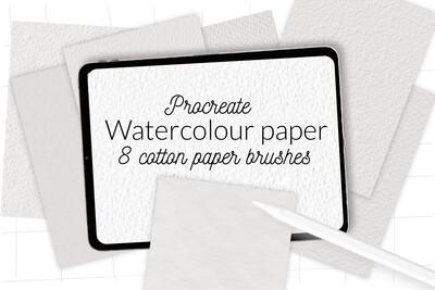 Набор кистей с текстурой акварельной бумаги