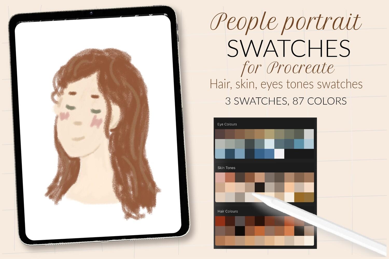 Цветовая палитра для портретов в Procreate