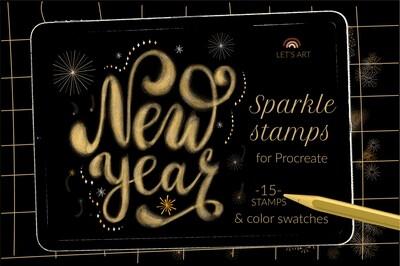 Декоративные новогодние кисти для Procreate