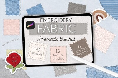 Текстильные кисти и вышивка для Procreate