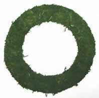 """Green padded moss effect wreath base rings 6"""" to 10"""""""