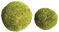 """'moss orb' green moss effect floristry ball 6"""" and 8"""""""