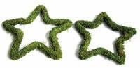 Green padded moss effect star wreath base pack of 10
