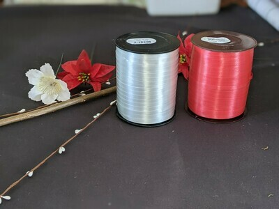 Curling ribbon, 500m full rolls in a variety of colours.