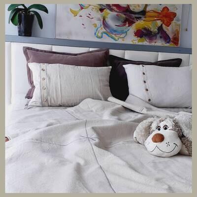 Ленен спален комплект