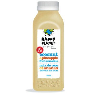 Happy Planet - Fruit Smoothie - Coconut & Pineapple - 325mL (3-5 Day Lead Time)