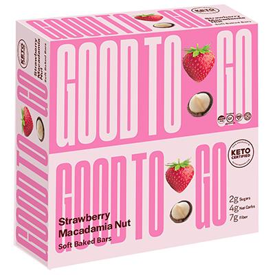 Good To Go - Soft Baked Bars - Strawberry Macadamia Nut - 40g